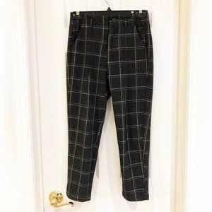 Incredibly Soft High Waisted Plaid Ankle Pants